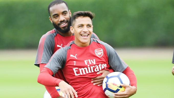 Sanchez và Lacazette , cặp song sắt mới của Wenger