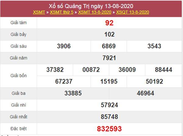 Dự đoán XSQT 20/8/2020 chốt lô số đẹp Quảng Trị thứ 5
