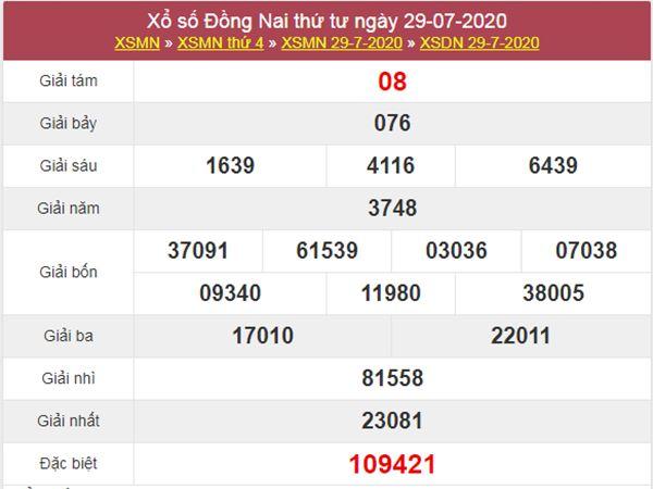 Soi cầu KQXS Đồng Nai 5/8/2020 VIP thứ 4 hôm nay