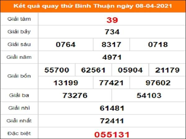 Quay thử Bình Thuận ngày 8/4/2021 thứ 5
