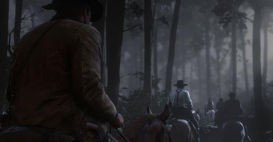 Red Dead Redemption 2 Người chơi Thông báo Chi tiết Thú vị Khi Khám phá Đầm lầy vào Ban đêm