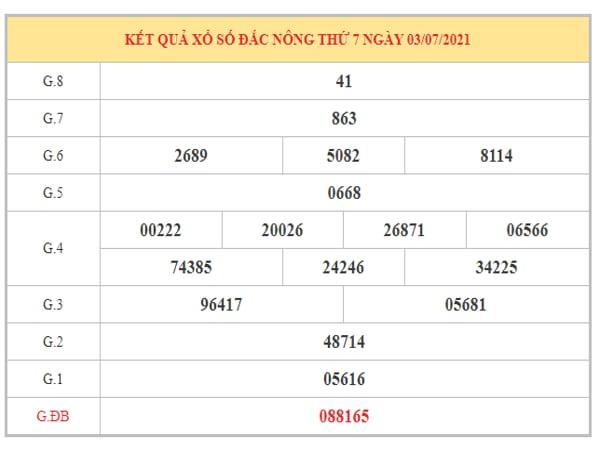 Thống kê KQXSDNO ngày 10/7/2021 dựa trên kết quả kì trước